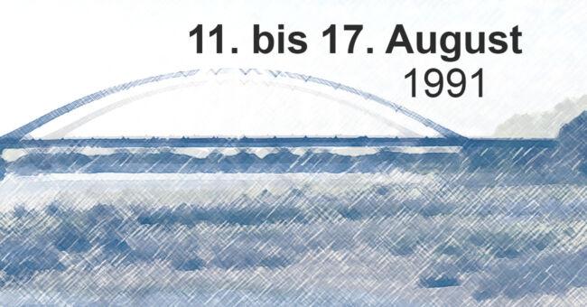 Brückenschlag an der Elbe